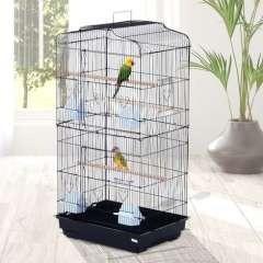 Jaula PawHut para pájaros color Acero