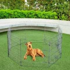Parque para Cachorros PawHut color Plateado