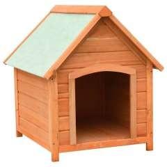 Caseta de madera para perros color Madera