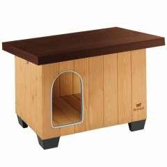 Caseta de madera Baita 80 Ferplast para perros color Marrón