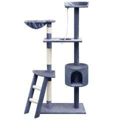 Rascador con poste rascador para gatos color Azul