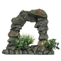 Arco de piedra para la decoración de acuarios color Verde