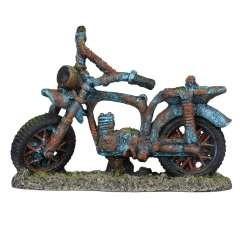 Ciclomotor para decoración de acuarios color Azul