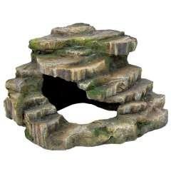 Roca esquinera para terrarios color Verde