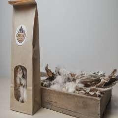 Oreja con pelo de conejo deshidratada para perros sabor Conejo