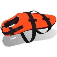 Chaleco salvavidas para perros color Naranja