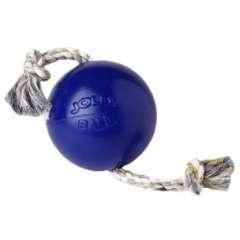 Pelota con cuerda para perros color Azul
