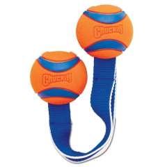 Doble pelota de juguete para perros color Naranja