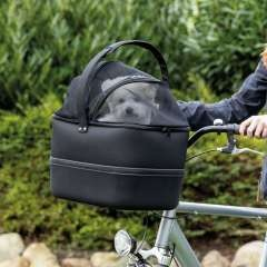 Transportín de bicicleta para perros color Negro