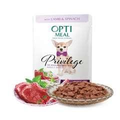 Optimeal Pienso húmedo para perros de razas pequeñas y mini Cordero y Espinacas