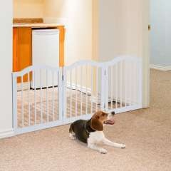 Barrera de seguridad modulable para mascotas color Blanco