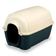 Caseta de plástico para perros color Verde