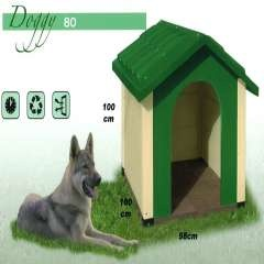 Caseta de exterior para perros color Verde