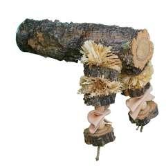 Percha Natural Shredding Corky Toy Perch color Madera