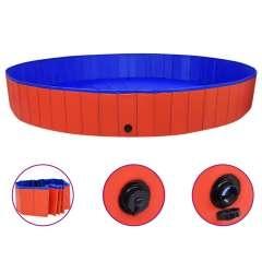 Piscina para perros color Rojo y Azul