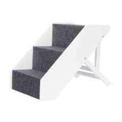 Escalera ajustable para mascotas color Blanco