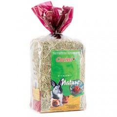 Heno premium con hierbas naturales para pequeños roedores