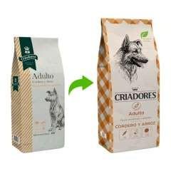 Pienso Criadores para perros adultos Cordero y arroz
