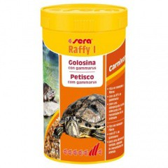 Alimento tortugas acuaticas y lagartos SERA raffy I