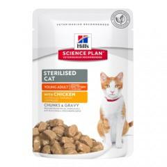 Bocaditos tiernos Hill's Sterilised para gatos esterilizados