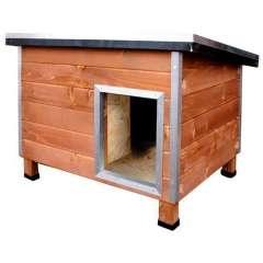 Caseta robusta de madera para perros Nevada Madera