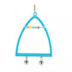 Columpio triangular con campanas para periquitos
