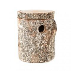 Nido tronco de Abedul para periquitos y pájaros exóticos