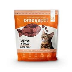 Alimentación de dieta BARF de Salmon y Pollo para gatos
