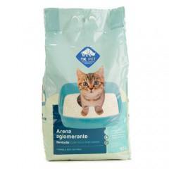 Arena aglomerante para gatos olor a talco perfumado TK-Pet