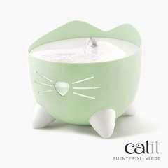 Bebedero fuente para gatos PIXI color Verde