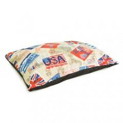 Cama colchón estampado postales TK-Pet