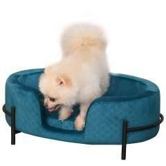 Sofá cama para mascotas con cojín acolchado color Turquesa