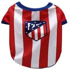 Camiseta para perro Atlético de madrid color Blanco y Rojo