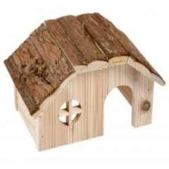Caseta de madera para roedores color Madera