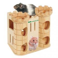 Castillo de madera para roedores
