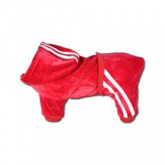 Chandal deportivo de terciopelo rojo
