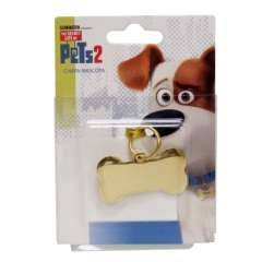Chapa identificativa para mascotas color Oro