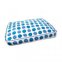 Colchoneta cama para perros TK-Pet Magic con lunares azul