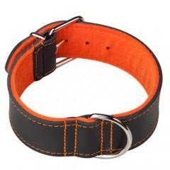 Collar para perros con forro Superfelt Choppers negro y naranja
