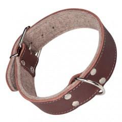 Collar para perros con forro Superfelt marrón