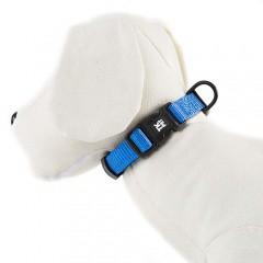 Collar para perros TK-Pet Neo Classic azul de nylon y neopreno