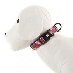 Collar para perros TK-Pet Neo Design morado de nylon y neopreno