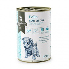 Comida húmeda para cachorros Criadores de pollo con arroz