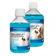Enjuague bucal para perros y gatos Fresh Dent 2 en 1 de Francodex