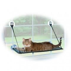 Hamaca para la ventana con ventosas para gatos