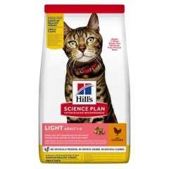 Hill's Science Plan Pienso seco gato adulto sabor pollo Light