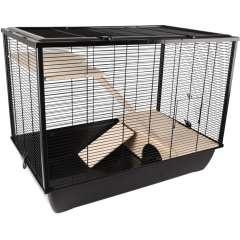 Jaula para hamster color Negro