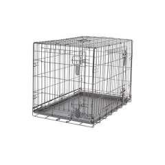 Jaula plegable 2 puertas Dogit para perros color Metálico