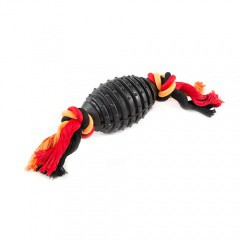 Juguete para perros TK-Pet SportDog pelota de rugby compacta con cuerda