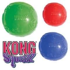 Kong Squeezz Ball Pelota de caucho blando resistente para perros